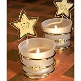 Gold star design 50th anniversary celebration favors. Great wedding favours, birthday gifts,baby shower presents, christmas stocking fillers and more...