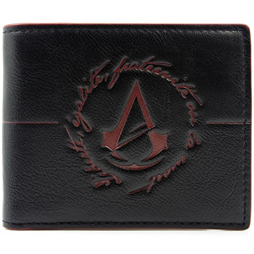 Ubisoft Assassins Creed Unity Logo Schwarz Portemonnaie - Coole Assassinen Kostüm