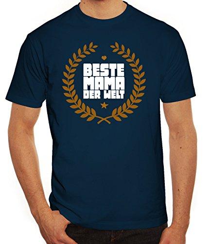 Geschenkidee Herren T-Shirt mit Auszeichnung Beste Mama der Welt Motiv von ShirtStreet Dunkelblau