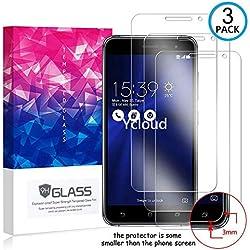 Ycloud [3 Pack] Protection écran pour ASUS ZenFone 3 (5.2pouce) ZE520KL, [9H Hardness, Anti-Rayures] Verre Trempé Protecteur d'écran, Appliquer à pour ASUS ZenFone 3 ZE520KL