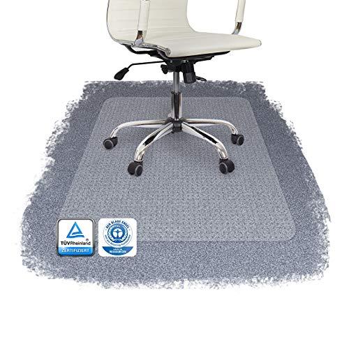 PERFORMA Bodenschutzmatte PET Teppichböden mit TÜV und Blauer Engel - 4 Größen wählbar - 115x135cm