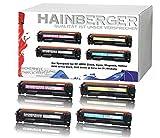 4x Hainberger Toner für HP Color LaserJet Pro M252dw Pro 200 M252n Farblaserdrucker kompatibel zu CF-400X CF-401X CF-402X CF-403X, Schwarz 2.800 Seiten, Color je 2.300 Seiten