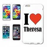 Handyhülle Samsung Galaxy S8 I Love Theresa Hardcase Schutzhülle Handycover Smart Cover für Samsung Galaxy S8 in Wei�