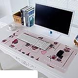 Tischdecke Pvc Mouse pad Tastatur-pad Untersetzer Wasserdicht] Weiche Glas Kunststoff Kristall-teller-C 30x80cm(12x31inch)