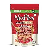 #10: Nestle NesPlus Breakfast Cereals, Multigrain Fillows - Strawberry Burst, 250 Grams