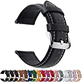 Fullmosa 12 Colors for Quick Release Leather Watch Strap Axus Genuine Leather Watch Band 14mm 16mm 18mm 20mm 22mm or 24mm (choose the proper size)