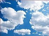 Schön und Wieder Fensterfolie Opolux - Selbstklebend - Bedruckt - Sichtschutz (Weiße Wolken im tiefdunklen Himmel, 70 x 50 cm)