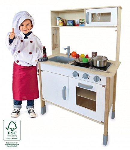 Preisvergleich Produktbild Kinderküche Holz Spielküche mit Aufsatz und viel Zubehör