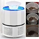 PERG Rate elettrica Moskito di moerder lampade USB ricaricabili Mosche di wanzen Zapper trappola per insetti di luce a LED per Casa Giardino bianco