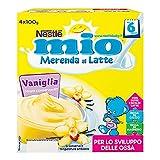Nestlé Mio Merenda al Latte con Vaniglia - Confezione da 4 x 100 gr