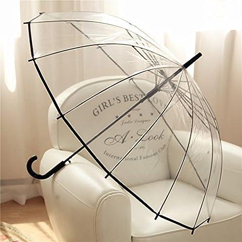 14 Bones Transparent Parapluie Hooks Transparent Anti-vent Umbrella Bubble Umbrella Long-manled Umbrella Grande Ombrelle Parapluie