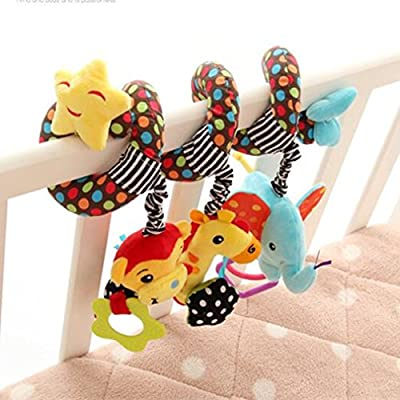 Infant Baby Activity Hanging Spiral Plush Toy Toddlers Bed Crib Stroller Toy Hanging Baby Rattle Toys for Newborn Girls Boys by TheBigThumb : everything £5 (or less!)