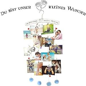 endlosschenken Geschenk zur Geburt Fotogirlande blau Bilderrahmen Collage für Junge Geburtstag Baby
