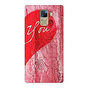 Stylish Pink You Multicolor Back Case Cover for Huawei Honor 7