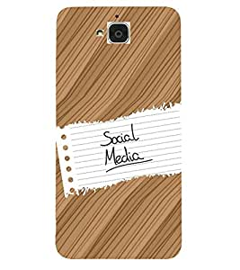 Fiobs Designer Back Case Cover for Huawei Honor Holly 2 Plus :: Huawei Honor 2 Plus (Wood Plant Trees Multi Color Beautiful)