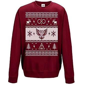 Christmas sweatshirts Funny Christmas BURGUNDY Medium