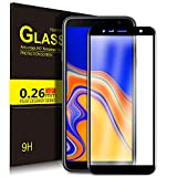 KuGi Samsung Galaxy J4 plus Screen Protector, Full Coverage Premium Tempered Glass Screen Protector [HD Clear] [Bubble-Free] for for Samsung SM-J415FN Galaxy J4+ (15.26 cm (6 Zoll) smartphone.Black