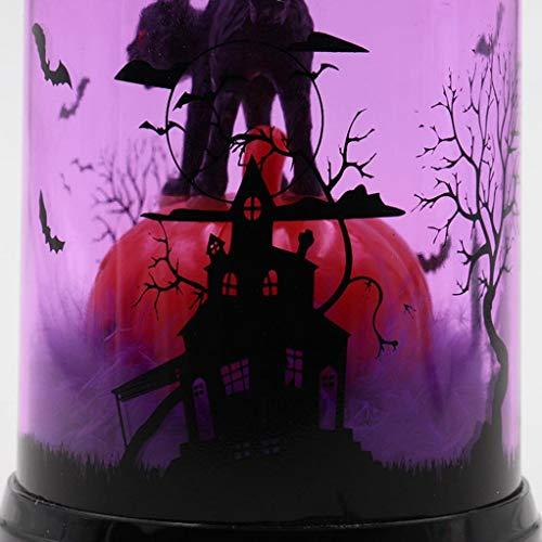 (TAOtTAO 1 Stück Halloween Kerze mit LED Teelicht Kerzen für Halloween Dekoration Teil (A))
