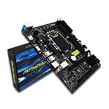Gugutogo Scheda Madre per Computer Desktop Professionale per Intel H55 Socket HDMI Mainboard DDR3 Dual Channel HDMI Pin LGA 1156 con Schermo I/O Nero