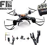 Fm-electrics FM 550 - Kamera Drohne, Schöner BlackAngel Quadrocopter mit HD-Kamera, schwarz