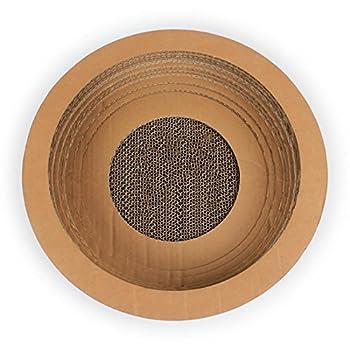 Myyxt Arbre De Chat En forme de bol Papier ondulé Produits pour animaux jouets accessoires