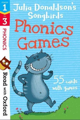 Read with Oxford: Stages 1-3: Julia Donaldson's Songbirds: Phonics Games Flashcards por Julia Donaldson