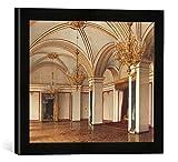Gerahmtes Bild von Konstantin Andrejewitsch Ukhtomsky Moskau, St. Katharinen-Saal/Ukhtomsky, Kunstdruck im hochwertigen handgefertigten Bilder-Rahmen, 40x30 cm, Schwarz matt