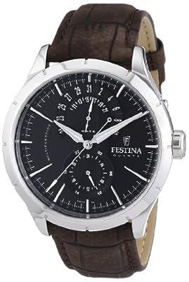 Reloj Festina F16573/4 de cuarzo para hombre con correa de piel, color marrón de Festina