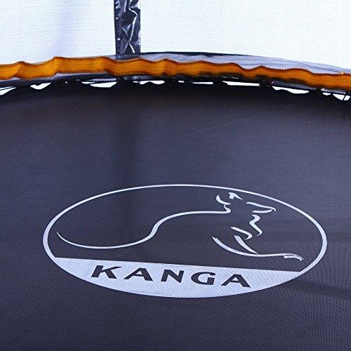 Kanga 6ft Premium Trampoline with Safety Enclosure, Net, Ladder, Anchor Kit, Shoe Bag & Winter Cover (6ft) …