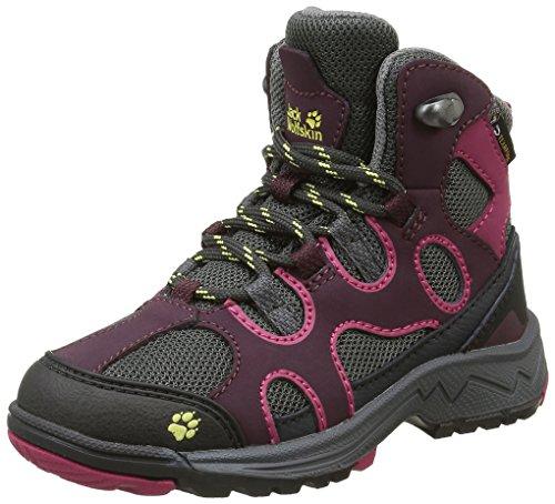 Jack Wolfskin Crosswind Texapore Mid K, Chaussures de Randonnée Hautes Mixte Enfant Rouge (Dark Berry 2009)