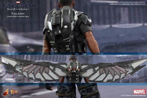 Movie-Masterpiece-Captain-America-Winter-Soldier-Falcon-16-scale-plastic-painted-action-figure-secondary-shipments-by-Hot-Toys