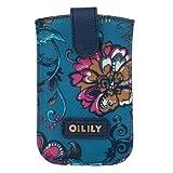 Oilily Sea of Flowers Smartphone Pull Case - Deep Ocean