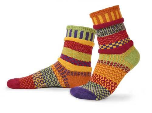 (Solmate Socks Warme Regenbogen Socken, Narzisse Mittel)