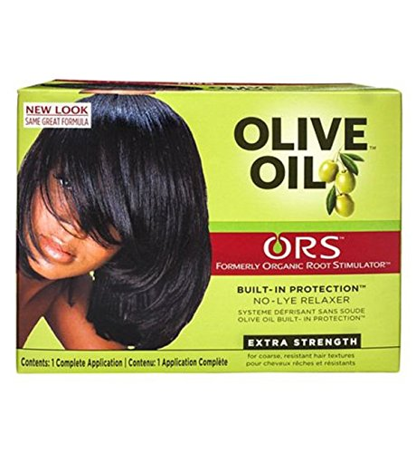 Relaxer / Glättungscreme Organic Root Stimulator Olive Oil Built-In Protection No-Lye Hair Relaxer System Extra Strength (Olive Hair Oil Relaxer)