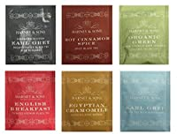 Harney & Sons Variety Pack ,48 Tea Bags (8 English Breakfast, 8 Green Citrus Ginkgo, 8 Decaff Earl Grey,8 Cinnamon Spice, 8 Earl Grey, 8 Egyptian Chamomile)
