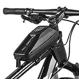 RIOGOO Borsa per Telaio Bici Resistente all'Acqua Borsa per Tubo Superiore Borsa per Telefono Anteriore per Bicicletta Eva 3D Borsa per Manubrio Shell Accessori per Bicicletta