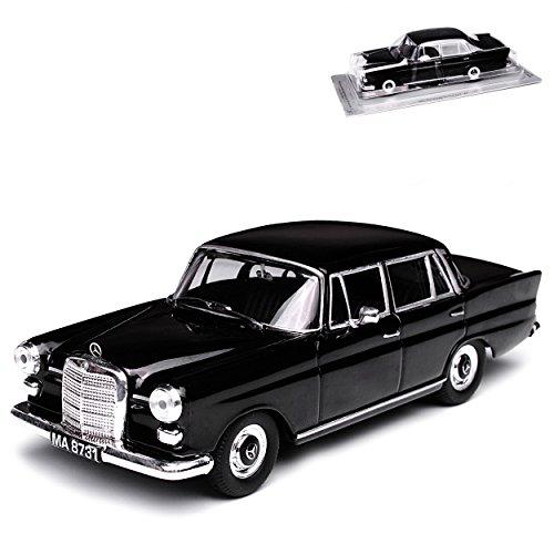 Mercedes-Benz 200D W110 Limousine Schwarz kleine Heckflosse 1961-1968 1/43 Modellcarsonline Modell Auto