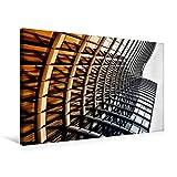 Calvendo Premium Textil-Leinwand 75 cm x 50 cm Quer, Sky Office in Düsseldorf | Wandbild, Bild auf Keilrahmen, Fertigbild auf Echter Leinwand, Leinwanddruck Orte Orte
