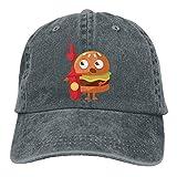 NavyLife Unisex Hamburg, Firefighters Washed Cotton Denim Baseball Cap Vintage Adjustable Dad Hat for Men Women Asphalt