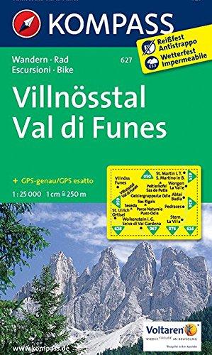 Villnösstal 627 GPS wp kompass Val di Funes par Kompass-Karten