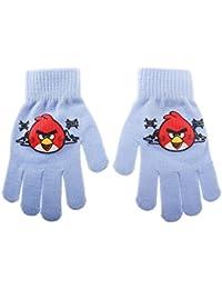 Guantes para niño Angry Birds 8negra talla única (3/8ans)