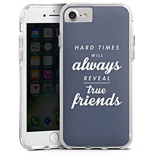Apple iPhone 6s Bumper Hülle Bumper Case Glitzer Hülle Freunde Friends Wahre Freunde Bumper Case transparent