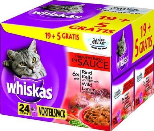 Whiskas Multipack Herzhaftes Ragout 2 x 24 x 100 g
