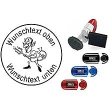 Geocachingstempel /« TEUFEL /» mit pers/önlichen Cachername Nickname rechteckiger Stempel Geocaching Pocketstempel
