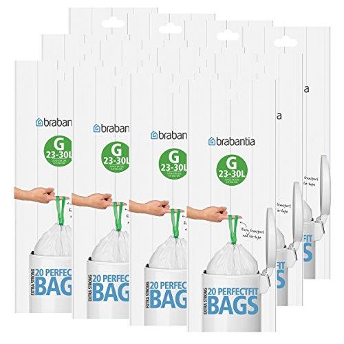 Occasion, Brabantia Lot de 12 rouleaux de 20 sacs poubelle Type d'occasion  Livré partout en Belgique