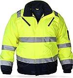 normani Outdoor- & Arbeitsbekleidung Piloten-Warnschutzjacke [S-4XL] Farbe Neongelb/Marine Größe XL
