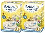 Bebivita Milchbrei Grieß, 2er Pack (2 x 600g)