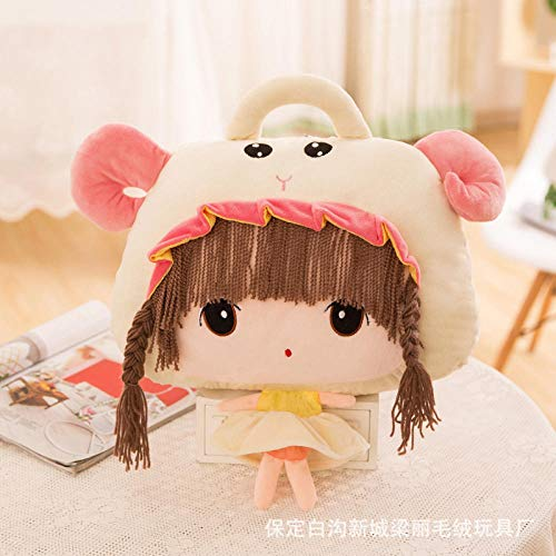 NIANMEI Plush Toys _ Cartoon 12 Constellation Air Conditioning is Flannel Three-Dimensional Pillow Feier Plush Toy Doll Custom@Aries_Blanket 110*160Cm