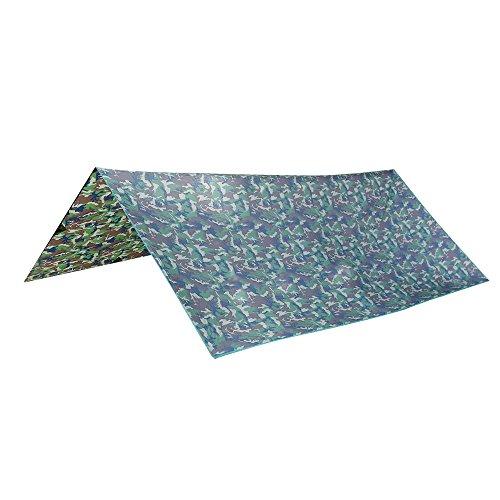 Gazechimp Leichte aber Stabil Wasserdichte Zeltplane 3 x 4m - Universal Abdeckplane Schutzplane Zeltunterlage Outdoor Camping Picknick Wandern - Tarnfarbe #02