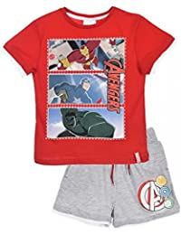 Marvel Avengers Boys Capt America Print Short Pyjamas 3-8 Years
